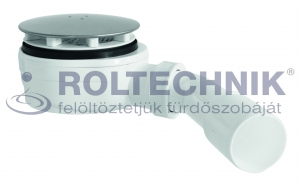 Roltechnik zuhanytálca szifon 90-es, inox, EXTRA alacsony beépítéssel