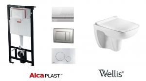AlcaPlast / Wellis ERIN wc szett, nyomólap nélkül