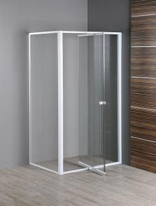 Aqualine Amico zuhanykabin egy nyíló zuhanyajtó + egy fix fal