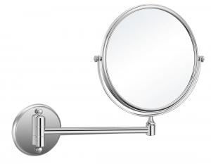 AQUALINE fali kozmetikai tükör, világítás nélkül, átm:200mm, króm (HY1408)