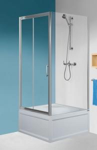 Sanplast KND2-kpl-TX5b/165 mélytálcás zuhanykabin szett (tolóajtós)