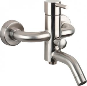 Minimal kádtöltő csaptelep zuhanyszett nélkül, inox (MI010)