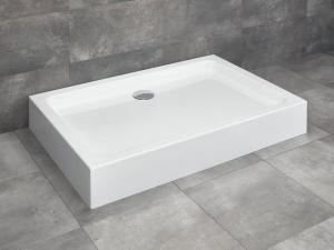 Radaway Laros D akril szögletes aszimmetrikus zuhanytálca ST 90 szifonnal Termék szerkesztése