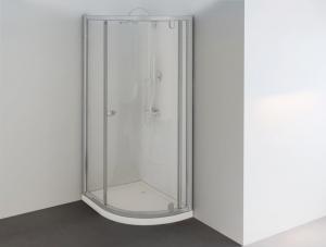 Sanotechnik íves aszimmetrikus zuhanyfülke