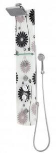 Sanotechnik VERONA zuhanypanel, mintás üveg