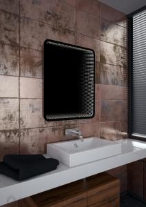 3D Tükör WENECJA SMART R, LED világítással 65x79 cm_Érintő kapcsolóval