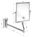 BEMETA KOZM.TÜKRÖK Kozmetikai tükör, 155x310x420mm (112201612) (XP011)