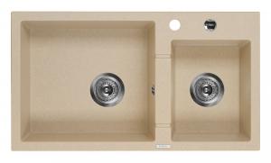 Piva 2 medencés mosogató csepegtető nélkül - homok ZQI 7203