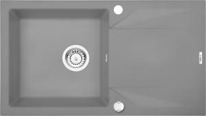 Evora 1 medencés mosogató csepegtetővel - szürke fém  ZQJ S113