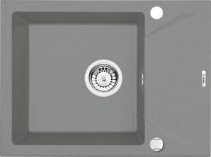 Evora 1 medencés mosogató rövid csepegtetővel - szürke fém ZQJ S11A