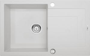 Rapido 1 medencés mosogató csepegtetővel - alabástrom ZQK A113