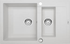 Rapido 1,5 medencés mosogató rövid csepegtetővel - alabástrom ZQK A513