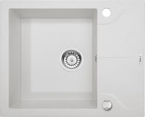 1 medencés mosogató rövid csepegtetővel - alabástrom ZQN A11A