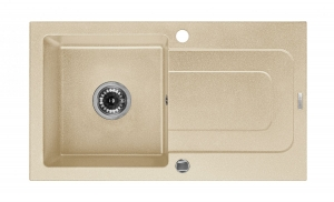 Funk 1 medencés mosogató csepegtetővel - homok ZQQ 7113