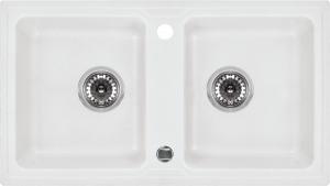 Zorba 2 medencés mosogató csepegtető nélkül - alabástrom ZQZ A203