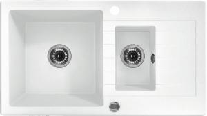 Zorba 1,5 medencés mosogató csepegtetővel - alabástrom ZQZ A513