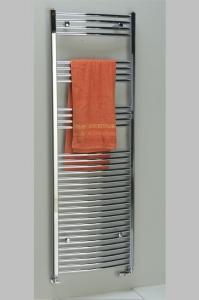 Sapho ALYA fürdőszobai radiátor, króm 500x688 mm, hajlított