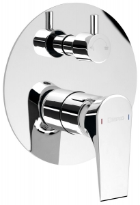AXIMATE falsík alatti zuhanycsaptelep, 2 irányú, króm (AX43)