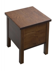 BRAND fürdőszobai szék tárolóval, 35x46x35cm, pácolt fenyő