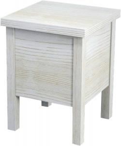 BRAND fürdőszobai szék tárolóval, 35x46x35cm, antik fehér