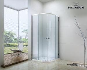 Balneum Royal 90x90-es íves zuhanykabin 6mm-es nano vízlepergető üveggel BL-503-90