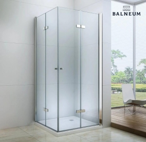 Balneum Royal szögletes harmonika ajtós zuhanykabin