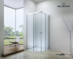Balneum Royal  szögletes zuhanykabin 6mm-es nano vízlepergető üveggel