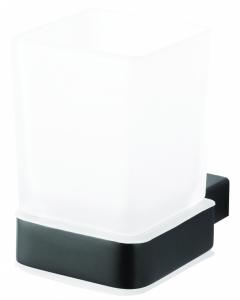 BEMETA NERO Pohártartó, 64x100x97mm, fekete (135011010)