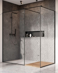 Radaway Modo New Black III Frame ( 3 részből álló ) walk-in zuhanyfal
