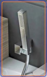 DEANTE-SQUARE 1 Pontos rögzítésű zuhanyszett, SZÖGLETES