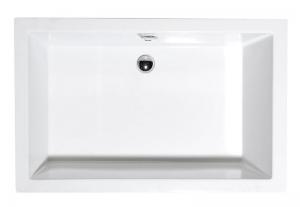 Polysan Deep aszimmetrikus akril mély zuhanytálca lábbal