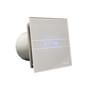 CATA E-100 GSTH ventilátor, 4/8W, automatikus, o100mm, Ezüst (00900600)