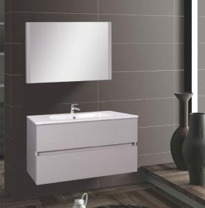 Wellis ELOIS Grey 80 fürdőszoba bútor szett / szekrény+mosdó+tükör /