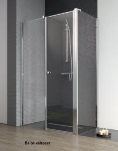 Radaway EOS II KDS asszimmetrikus nyílóajtós zuhanykabin