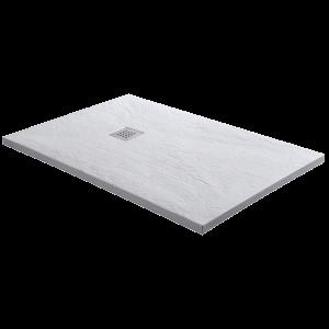 Sanotechnik KRETA öntött márvány zuhanytálca, 120 cm