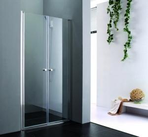 Aquatek Glass B2 nyílóajtós zuhanyajtó fehér profillal