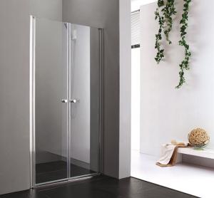 Aquatek Glass B2 nyílóajtós zuhanyajtó króm profillal