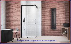 Radaway Idea Black KDD zuhanykabin, Több méretben