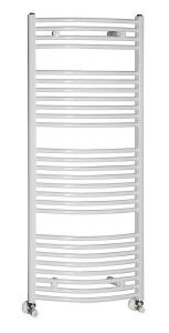 AQUALINE Fürdőszobai radiátor, 450x1330 mm, íves fehér (ILO34)