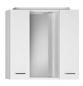 AQUALINE ZOJA tükrösszekrény LED világítással, dugaljjal, kapcsolóval, 70x60x14cm, fehér