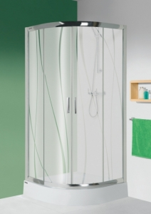Sanplast KP4/TX5b W15 zuhanykabin (tolóajtós) tálca nélkül