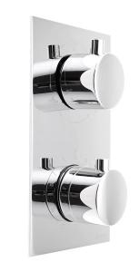 KIMURA termosztatikus falbaépített zuhany csaptelep 2 irányú váltóval, króm (KU385)