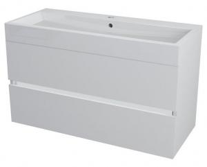 LARGO mosdótartó szekrény 100x50x42cm, fehér fényes (LA101)