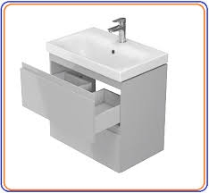 Cersanit Moduo 50-es alsószekrény normál mosdóval, fehér színben