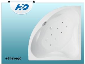 8 levegőfúvókás pezsgőfürdő H2O kádakhoz