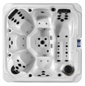 OASIS MAXI 6 szenélyes kültéri medence, fehér, szürke oldallal