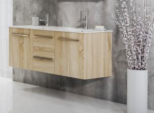 Tboss Milano alsó szekrény mosdóval 120 cm méretben, válaszható színben