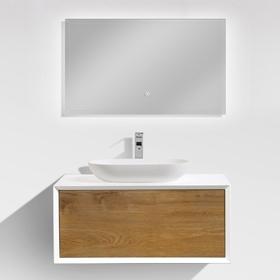 Miletos 90 1 fiókos mosdószekrény+ mosdó+ tükör