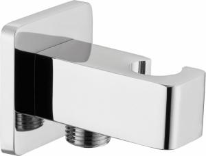 Cascada szögletes sarokszelep zuhanytömlőhöz, zuhanyfej tartóval, króm