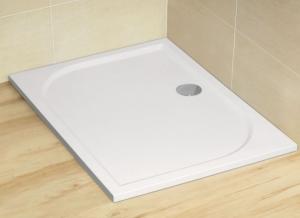 Radaway Noris D szögletes aszimmetrikus öntöttmárvány zuhanytálca ST90 szifonnal asszimetrikus műmárvány zuhanytálca